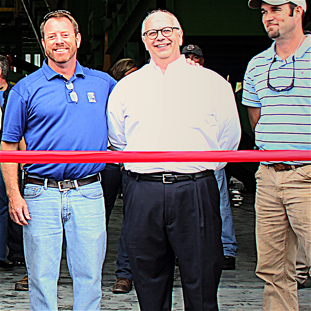 Paul J. Hannah at GRS Recycling Ribbon Cutting