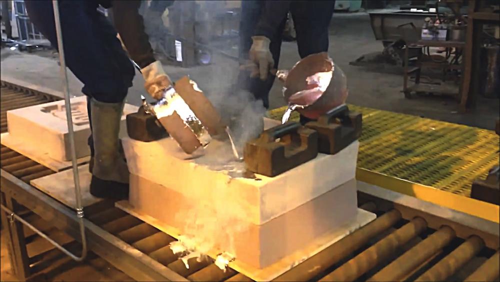 Palmer No Bake Molding System At Southern Aluminum Foundry