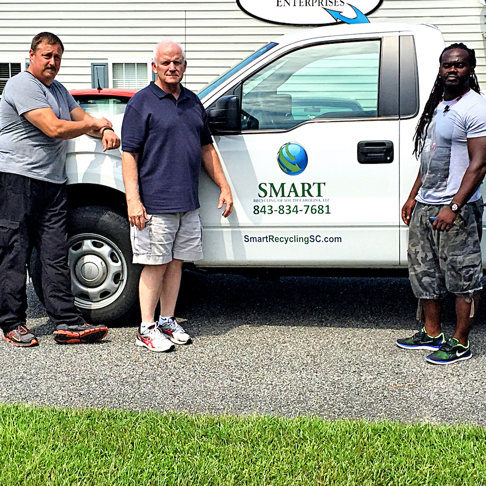 Richard Howard with SMART Recycling and the SMART Truck